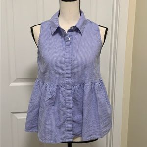 Rebellion Sleeveless Blouse with Tie up Bows SizeM